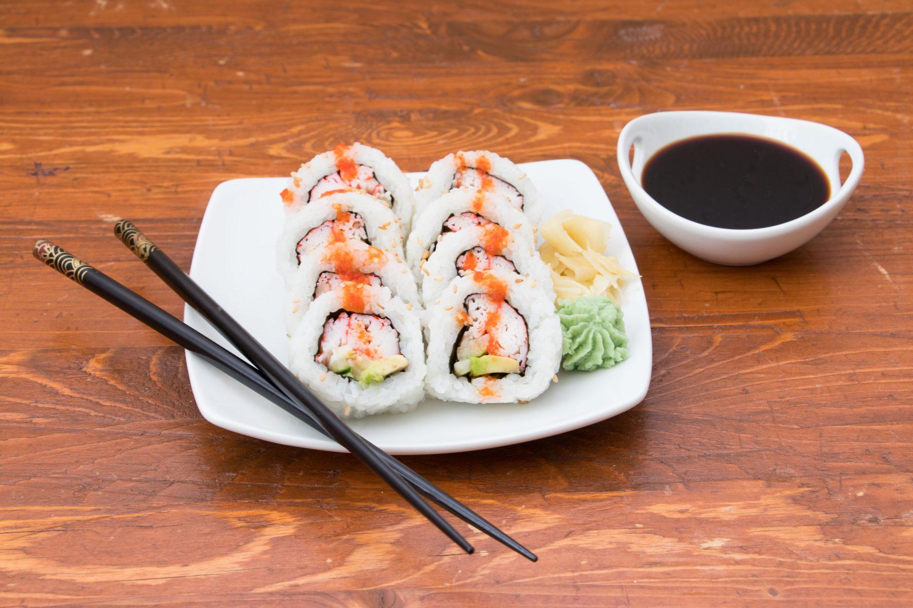 Scorpion blood sushi